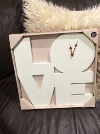 Dunelm cream clock new in box