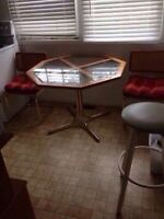 Kitchen table and 2 side tables