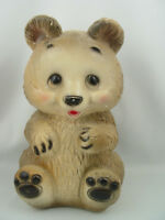 Antique LARGE chalkware carnival bear that dates from the 50's.