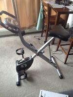 """Lightly Used """"Exerpeutic 1200"""" Folding Upright Bike"""