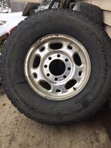 Pair of 265 75 16 tires on factory 8 bolt gmc or Chevy rims