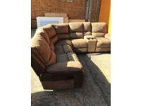 Harveys HOLDEN reclining corner with drinks compartment ex display