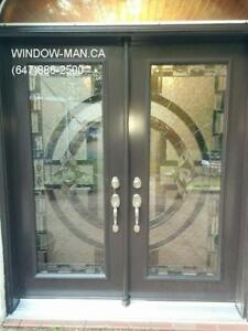 Entry Stained Glass Door Entrance  Top Quality