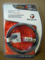 Targus Notebook Security Combo Cable Lock Defcon CL NEW/NEUF