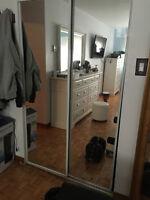 portes mirroir coulissantes mirror sliding doors 48 neuf new
