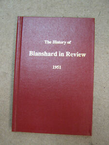 BOOK - HISTORY OF BLANSHARD IN REVIEW 1951  REPRINT EDITION 1989