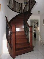 Hardwood Floor: $1.25/SF; Laminate Floor: $1.00/SF – Staircase !