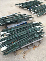Fence Posts, T bar , Steel , for snow fence, 5 1/2' tall