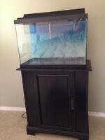20 gal fish tank, stand & accessories
