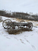 beautiful old wagon, put in yard, or restore