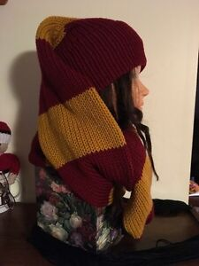 Unisex Harry Potter Inspired Winter Scat (hat n scarf in 1) Kitchener / Waterloo Kitchener Area image 4