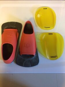 Swimming foot and hand flippers Kitchener / Waterloo Kitchener Area image 1
