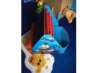 Thomas the Tank Engine toy box & chalk board/book rack