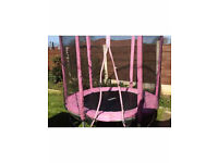 Pink 6foot Cortez trampoline and enclosure