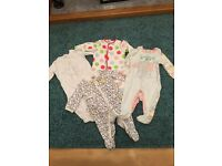Girls baby grows 3-6months