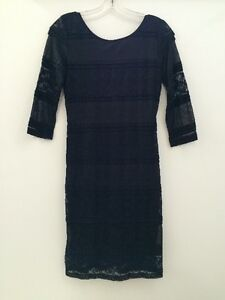 Ladies Lace Style Dress - Black - Large - Brand New