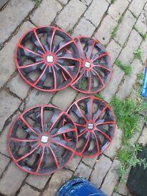 Seat wheel trims