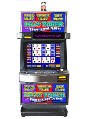 TRIPLE, FIVE, TEN PLAY DRAW POKER MULTI GAME WITH REFURBISHED LCD SCREEN