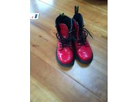 Doc Martins Girls Red Boots
