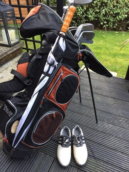 Full Golf Set Stand Bag, Clubs, Umberella, Shoes