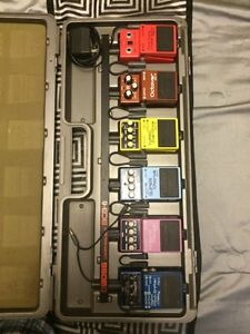 Vintage Boss Pedals and Pedalboard