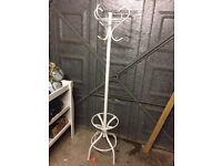 White metal coat hanger