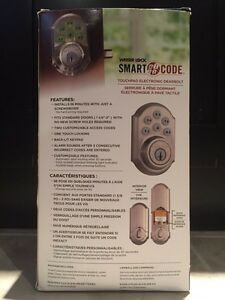 Brand new Weiser Smartcode lock touchpad keyless entry Kitchener / Waterloo Kitchener Area image 3