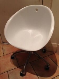 Designer James Richardson White Tub-Style Gas-Lift Swivel Chair Coogee Eastern Suburbs Preview