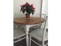 Vintage 4 seater table and chairs