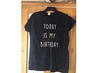 Brand new it's my birthday t shirt size XXL