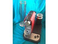 Krups Nespresso Coffee machine and pod holder