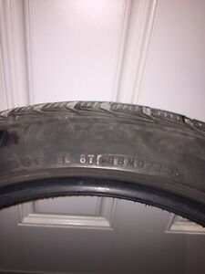 Blizzack 245/40/19 winter tires off rims Regina Regina Area image 3