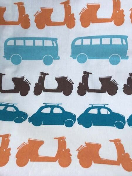 Pair of John Lewis blackout curtains car and bus design | in St ...