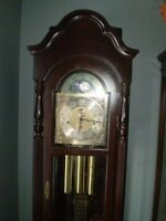 7 FT CHERRYWOOD HERMLE GRANDFATHER CLOCK