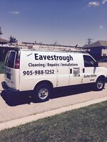 Eavestrough cleaning ,repairs and installations