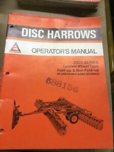 Allis Chalmers Part's, Service and  Operators Manual's Stratford Kitchener Area image 4