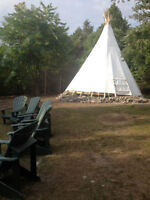 AWESOME Island TeePee on Rice Lake! The Kids Will LOVE It!