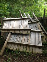 Plenty of wood from a fence...