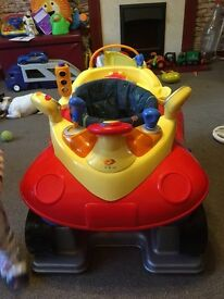 Car lights and sounds bouncer