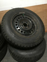 HANKOOK 195/70R14 TIRES AND 5 BOLT RIMS $200 for the PAIR!!