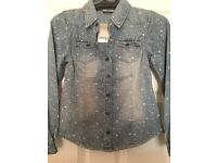Girls denim shirt (collection only)