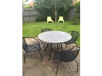 Outdoor Garden Furniture, table, 4 chairs