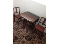 Drop-leaf table and Chairs