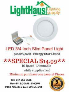 ***LED Slim Panel Light BLOWOUT***- LED Pot light bulb