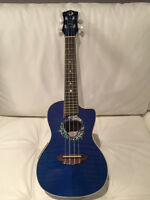 2014 Luna Ukulele with Onboard Pre-Amp and Optional Stand