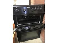 BEKO Cooker, Oven & Grill with Electric Glass Hob