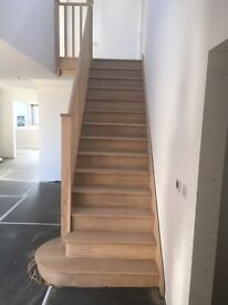 Oak staircase made to measure, supply and fit