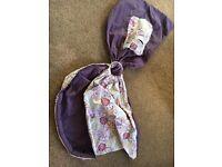 Palm & Pond Purple Paisley Baby Ring Sling