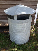 Large galvanized metal stack with hood - Moving - $20 cash