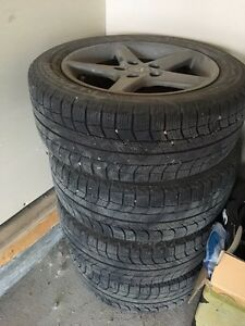A set of winter tires